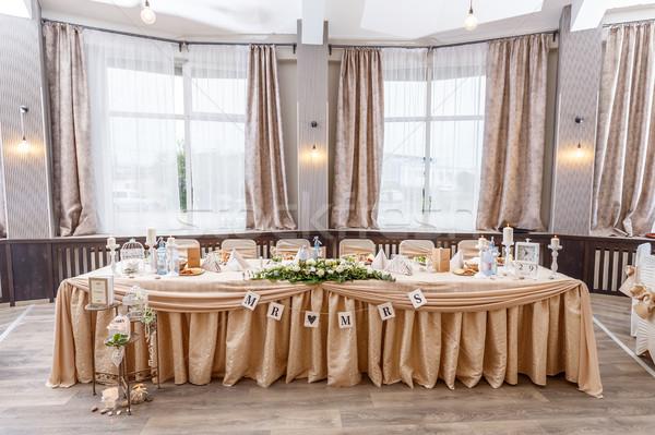 Table mariée marié décoré drap Photo stock © grafvision