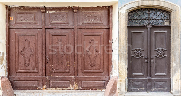 Weathered wooden doors  Stock photo © grafvision