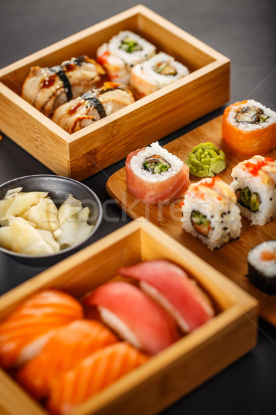 Close up of sushi assortments Stock photo © grafvision