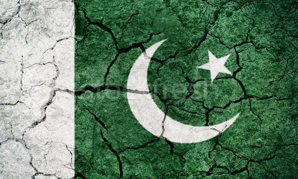 Republiek Pakistan vlag drogen aarde Stockfoto © grafvision