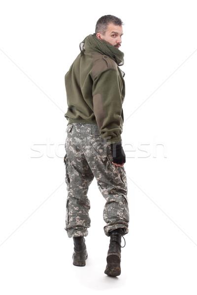 Terrorista olhando ombro homem asiático pessoa Foto stock © grafvision