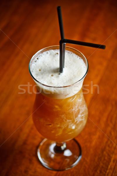 Espresso koffie wodka sinaasappelsap grapefruit sap Stockfoto © grafvision