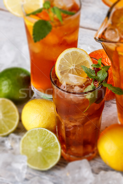 Glasses of ice tea Stock photo © grafvision