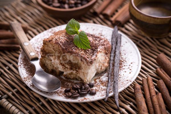 Tiramisu italiano torta grano de café queso Foto stock © grafvision