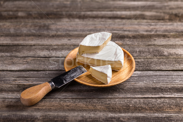 Camembert queso pequeño placa desayuno bordo Foto stock © grafvision