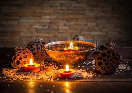 Trattamento termale buio fuoco salute sfondo massaggio Foto d'archivio © grafvision