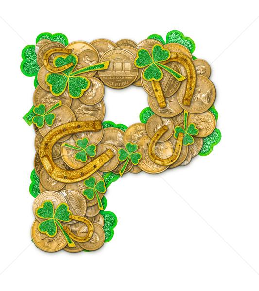 St. Patricks Day holiday letter P Stock photo © grafvision