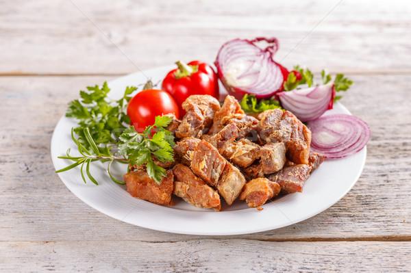 Fried pork greaves Stock photo © grafvision