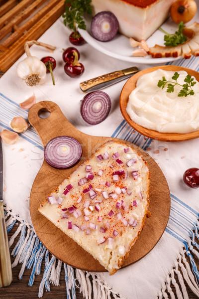 Bread with lard Stock photo © grafvision