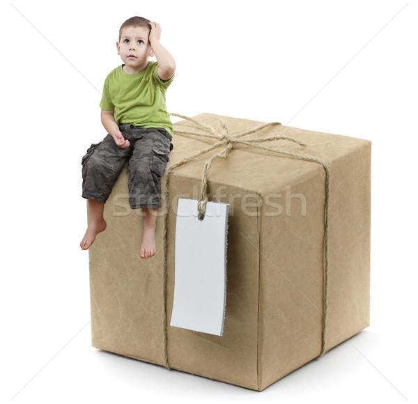 boy with box Stock photo © grafvision
