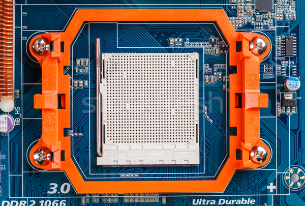 Technológia számítógép processzor kék nyáklap háttér Stock fotó © grafvision