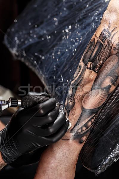 Tattoo master works Stock photo © grafvision