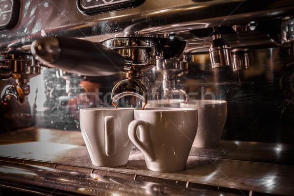 Professional coffee machine Stock photo © grafvision