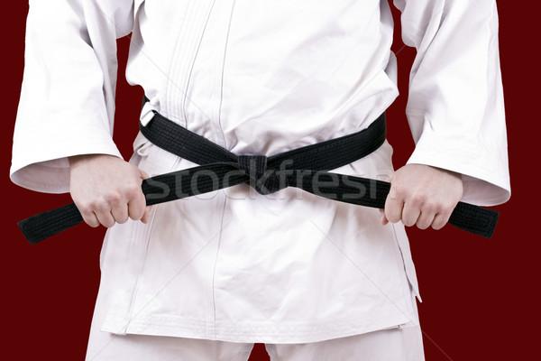 黒 ベルト 武術 選手 ストックフォト © grafvision