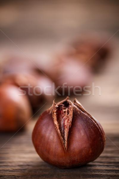 Comestibles bois fruits espace Photo stock © grafvision