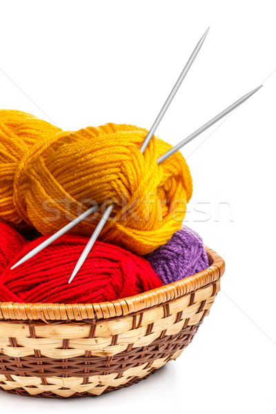 Knitting yarn balls Stock photo © grafvision