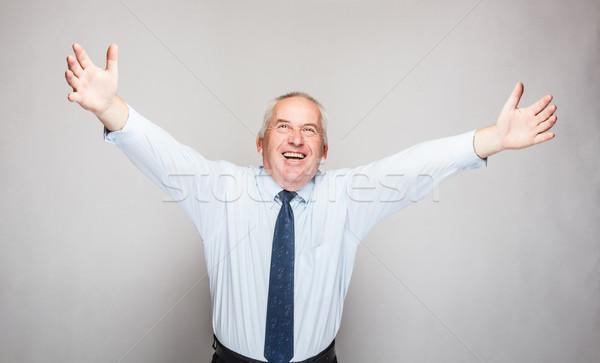 Happy senior businessman Stock photo © grafvision