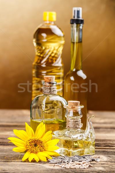 Comestible óleos botellas cocina de oliva Foto stock © grafvision