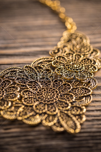 Goldplated feminine necklace Stock photo © grafvision