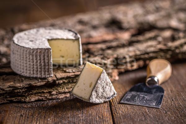 Camembert suave queso fondo cuchillo Foto stock © grafvision