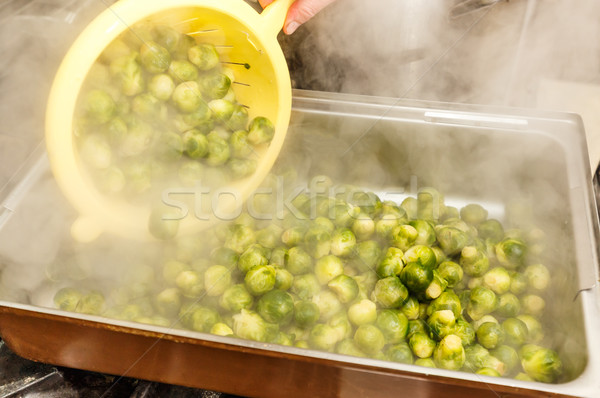 Cooked brussel sprouts Stock photo © grafvision
