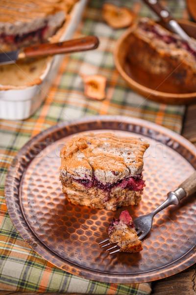 Ekmek puding reçel elma fotoğraf Stok fotoğraf © grafvision