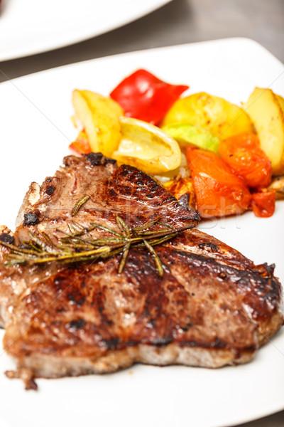 Grilled pork steak Stock photo © grafvision