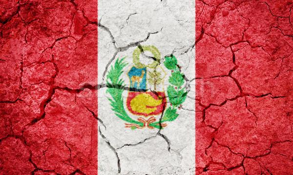 共和国 ペルー フラグ 地球 地上 ストックフォト © grafvision