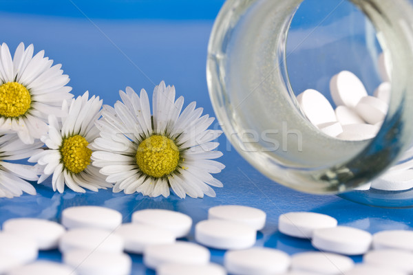 Chamomile and homeopathic medication Stock photo © grafvision