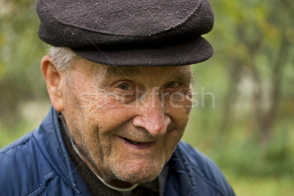 Vieillard souriant portrait heureux nature Photo stock © grafvision