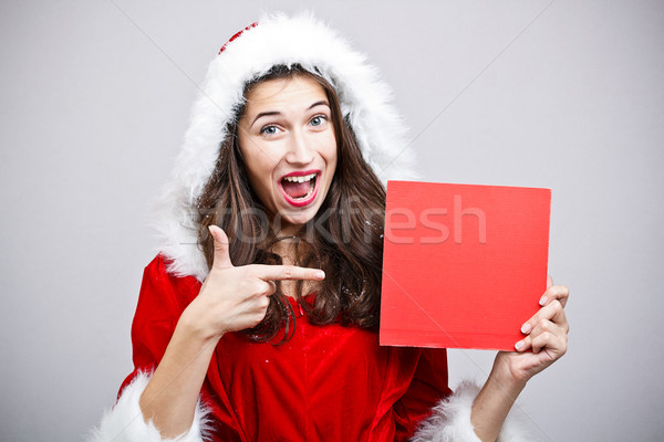 Femme vêtements clause costume jeune femme Photo stock © grafvision