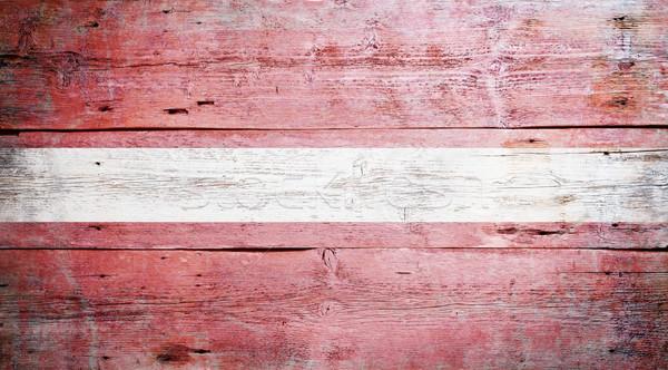 Bandera Letonia pintado sucio madera Foto stock © grafvision
