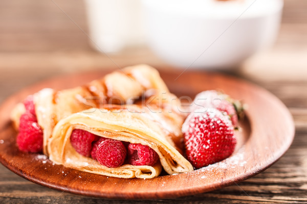 Pancake with fruits Stock photo © grafvision