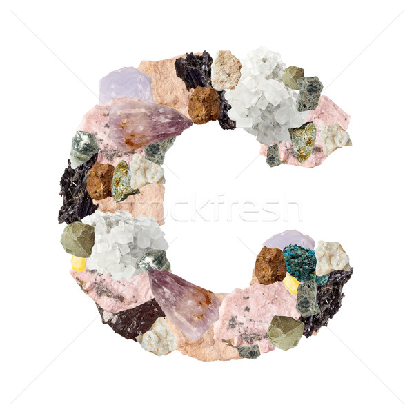 Stock photo: Minerals alphabet