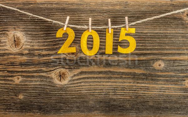 Ano novo 2015 vintage estilo retro corda Foto stock © grafvision
