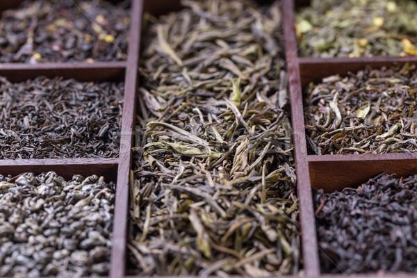 Drogen thee bladeren natuur Stockfoto © grafvision