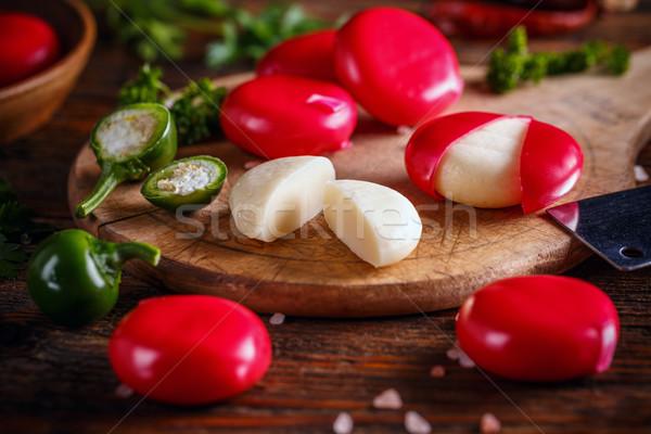 Mini baby formaggio rosso cera Foto d'archivio © grafvision