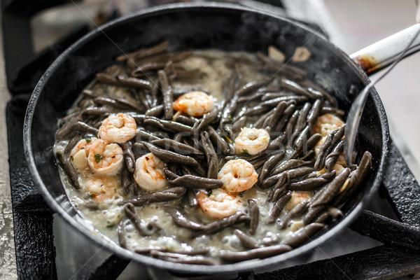 Frying shrimps  Stock photo © grafvision