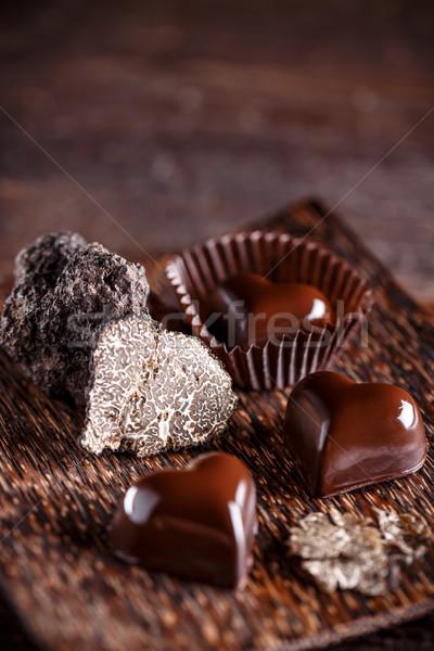Chocolate praline Stock photo © grafvision