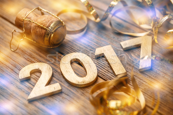 2017 year number Stock photo © grafvision
