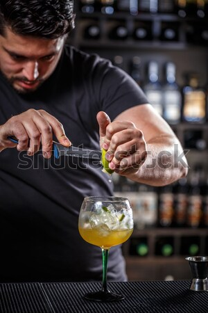 Stock photo: Barman at work
