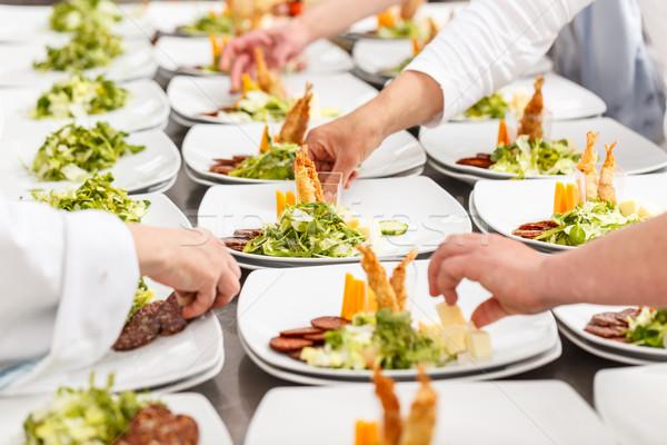 Delicious appetizer dishes Stock photo © grafvision