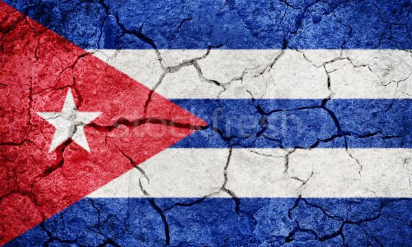 República Cuba bandeira secar terra terreno Foto stock © grafvision