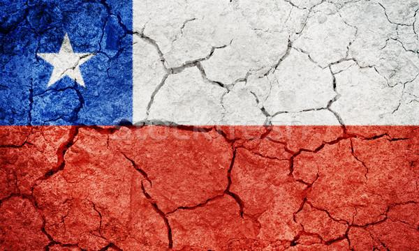 Köztársaság Chile zászló száraz Föld föld Stock fotó © grafvision