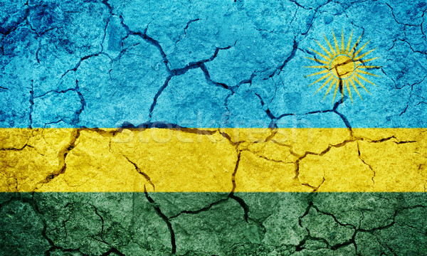 Republic of Rwanda flag Stock photo © grafvision
