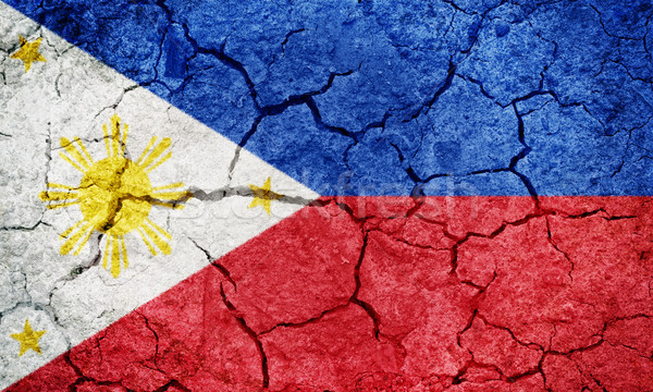 Cumhuriyet Filipinler bayrak kuru toprak zemin Stok fotoğraf © grafvision
