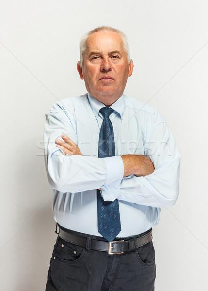Holunder Geschäftsmann Hände Arbeit Hintergrund Stock foto © grafvision