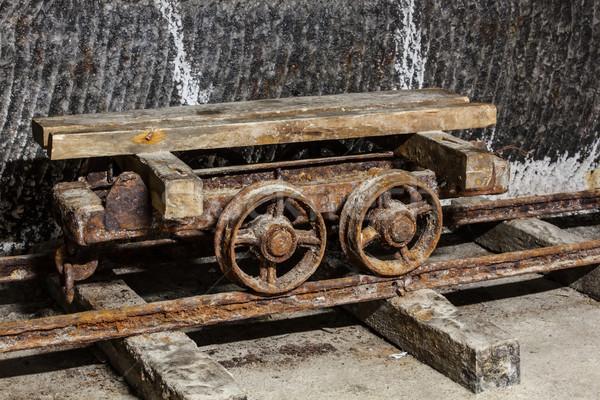 öreg fuvar só bánya fa földalatti Stock fotó © grafvision