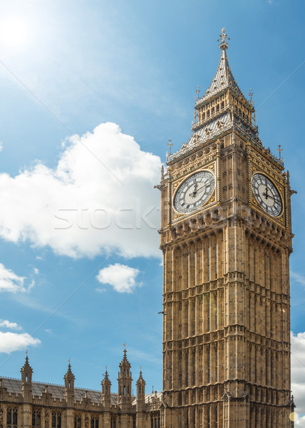Close up of Big Ben Clock Tower Stock photo © grafvision