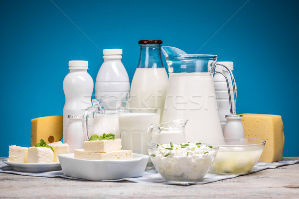 Tasty healthy dairy products Stock photo © grafvision